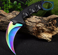 New Arrival Camping Tool Slaughter CS GO Fade Counter Strike Karambit Handmade Knives Hunting Fighting Tactical