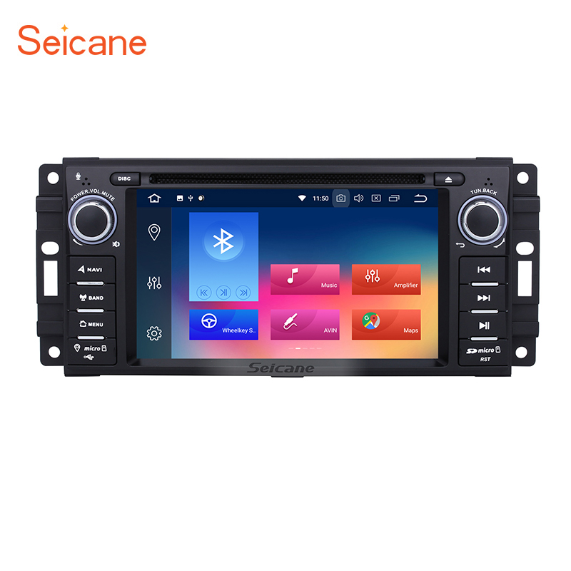 Seicane 8core 32G 1 DIN 7 Android 8.0 GPS Multimedia Player WIFI DVD Player for Jeep Compass Wrangler Unlimited Dodge Chrysler