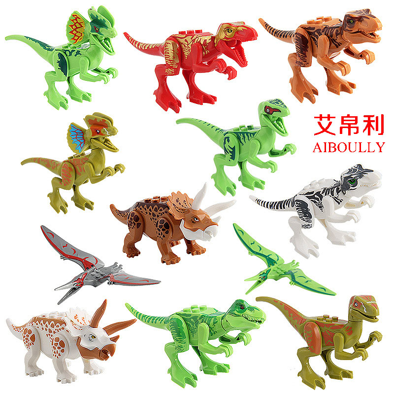 New Upgrade 12PCS/Lot Jurassic World Park figures Dinosaur Bricks Figures Blocks Super Heroes baby toys Compatible with lepin 2 sets jurassic world tyrannosaurus building blocks jurrassic dinosaur figures bricks compatible legoinglys zoo toy for kids