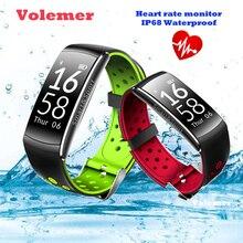 Volemer Smart Band IP68 водонепроницаемый смарт-браслет Heart Rate SmartBand Фитнес трекер умный Браслет Носимых устройств часы
