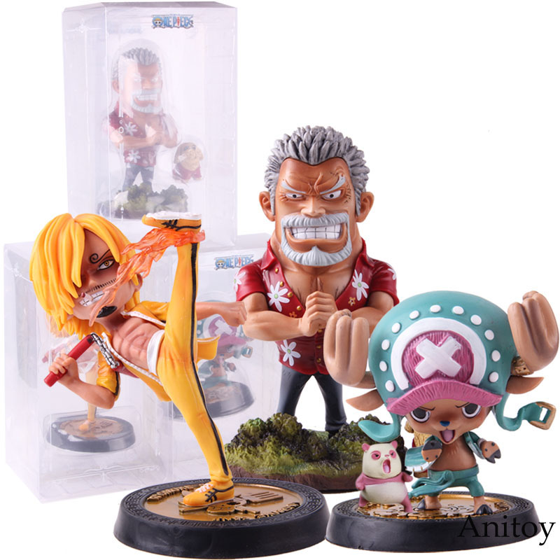 Anime One Piece Kungfu Vinsmoke Sanji Tony Tony Chopper Monkey D Garp One Piece Figure GK Statue Collectible Model Toy