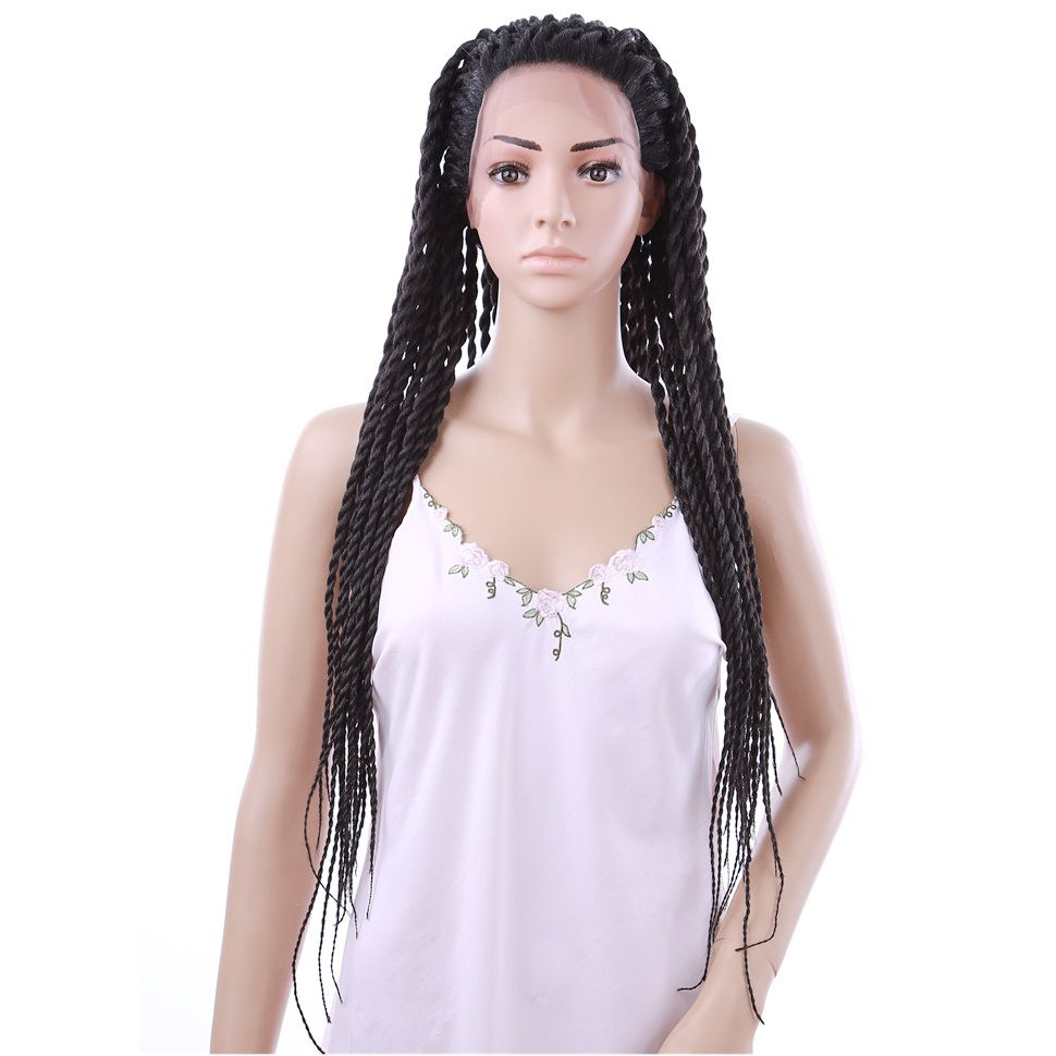 Long African Braiding Wigs Box Braid Senegal Braids Front