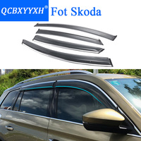 QCBXYYXH Car Styling Awnings Shelters Window Visors Rain Eyebrow For Skoda Kodiaq Yeti Octavia Superb Fabia