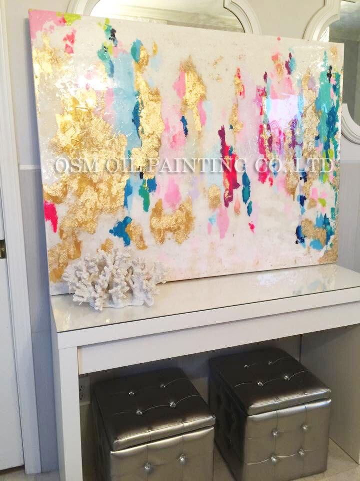 Profesionální umělec ručně barevné abstraktní olejomalba na plátně krásné bohaté barvy olejomalba pro obývací pokoj