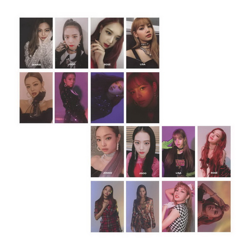 KPOP BLACKPINK Album SQUARE UP Self Made Paper Lomo Card Photo Card Poster HD Photocard [tool]kpop bts group bangtan boys young forever album lomo cards k pop fashion self made paper photo card hd photocard 0381