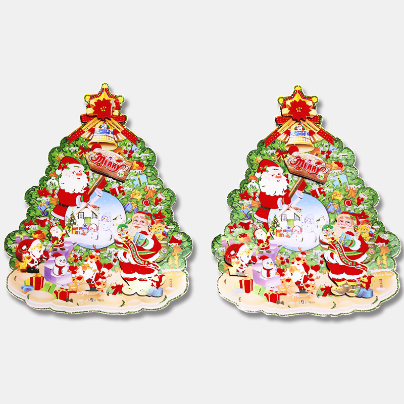 Fast Delivery 1pcs Christmas Santa Avatar Decorations Gifts Window