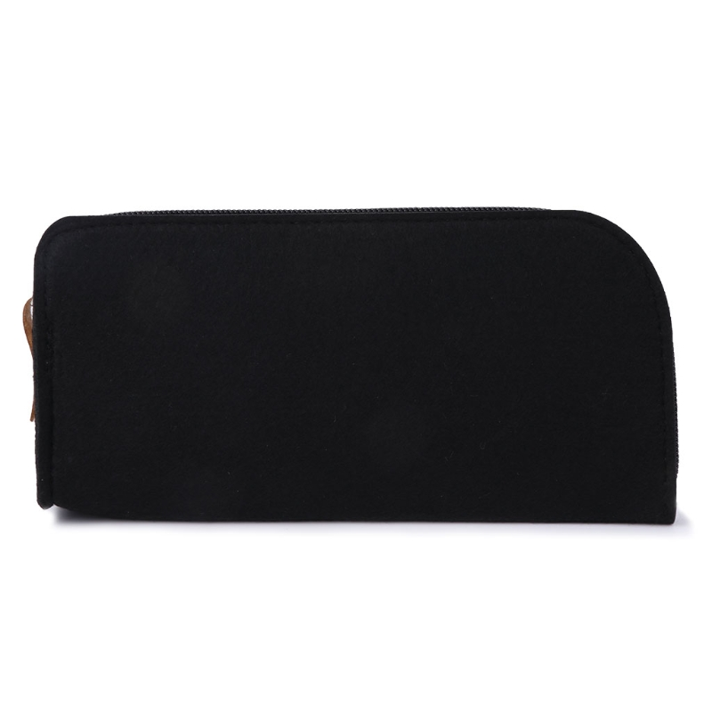 Hearty New Glasses Bag Felt Fashion Sunglasses Box Zipper Storage Carry Case Cosmetic Pouch To Rank First Among Similar Products Apparel Accessories Men's Glasses