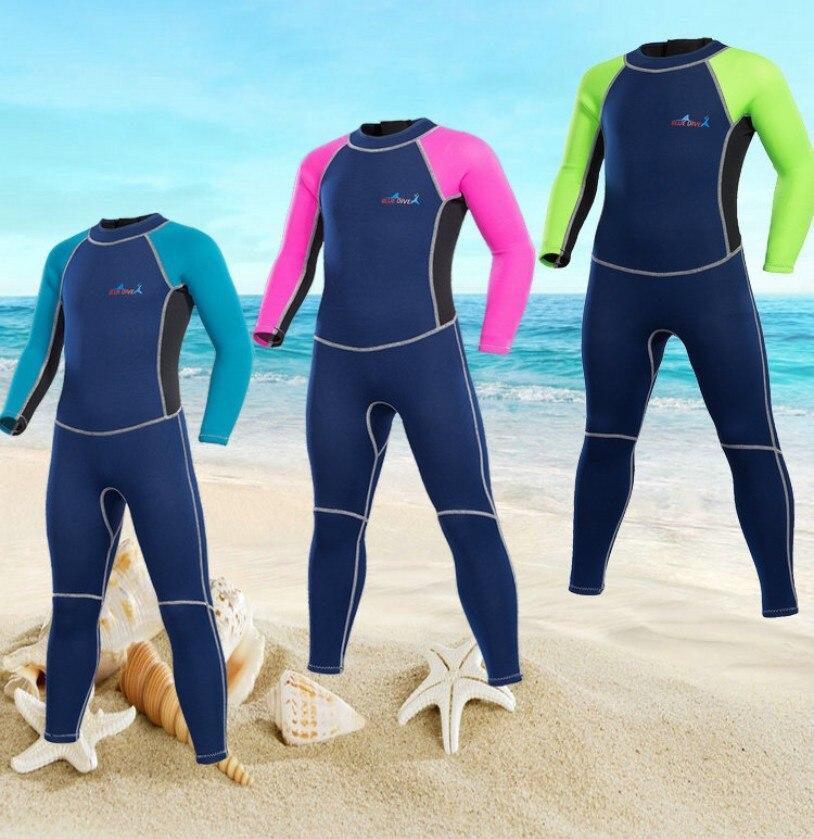 2mm néoprène surf surf combinaison de plongée en apnée enfants filles garçons enfants hermétique chaud méduses mergulho neoprenanzuge scube combinaison