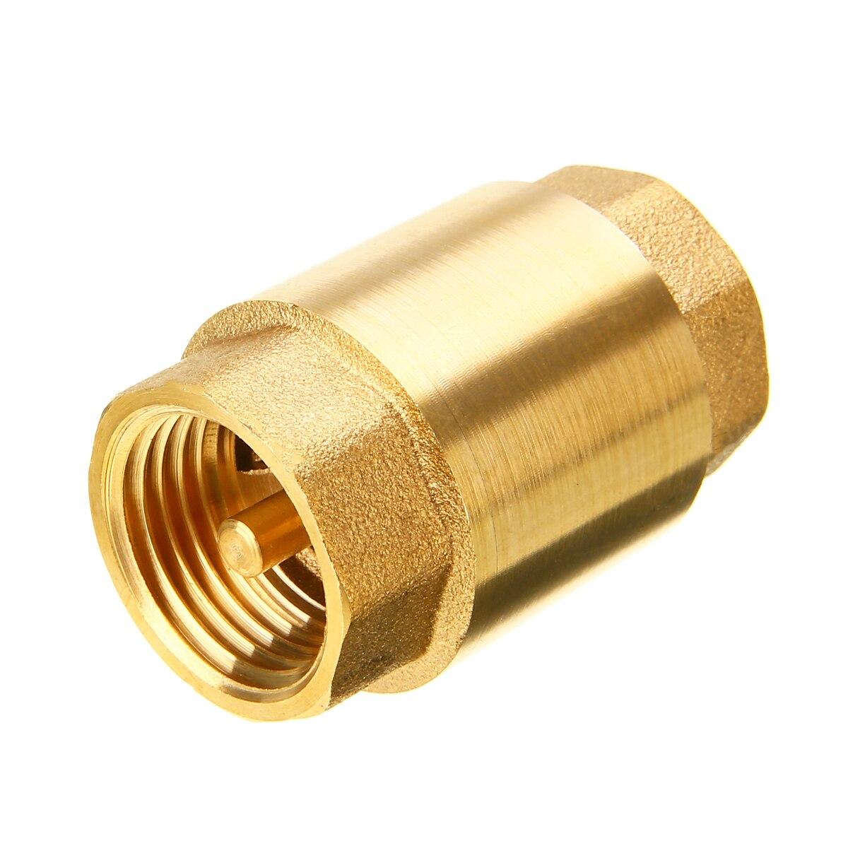3//4 Brass in-Line Spring Check Valve 200WOG