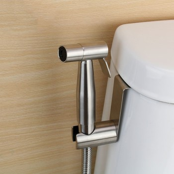 Manual installation Handheld Bidet Spray Shower Set Toilet Shattaf Sprayer Douche kit Bidet Faucet,Brushed Nickel