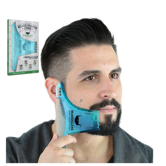 Beard Trimmers ผมแปรงโกนหนวด Beard Shaping จัดแต่งทรงผม Man Beard Trim แม่แบบตัด molding Hair clipper beard การสร้างแบบจำลอง