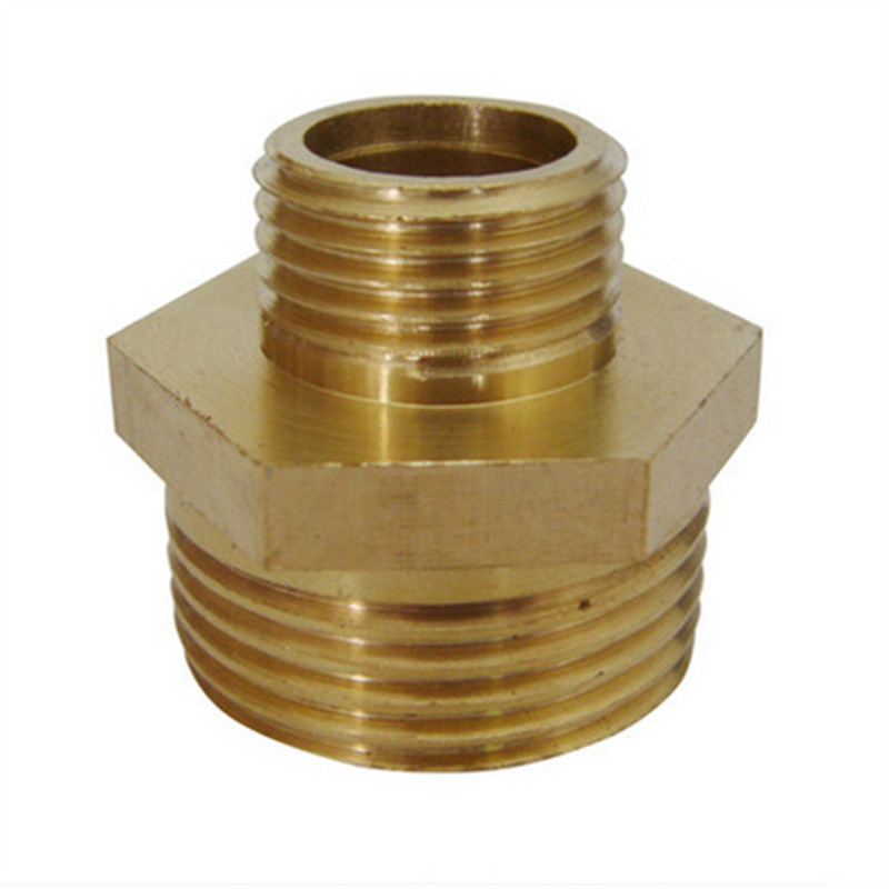 Quot male brass nipple connector hose copper