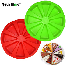 WALFOS food grade Silicone cake tools Microwave Oven baking mold 8 grids round DIY cooking kitchen accessories