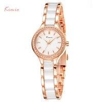 KIMIO Famous Luxury Brand Ladies Ceramic Bracelet Watches Female Casual Elegant Dress Women Quartz Wristwatch Vrouwen