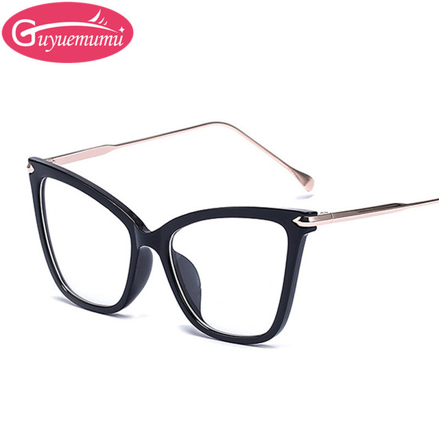 e4997d6ef9 Bright Black Cat Eye Glasses Frames Woman Eyeglasses Mens Glasses Frames  Nerd Frames for Glasses Retro Eyewear Gafas de vista