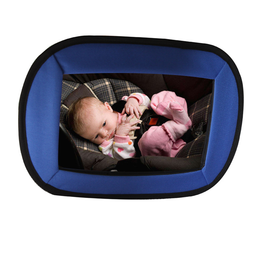 CARGOOL Baby Car Mirror Safety Car Seat Interior Mirror Acrylic Rear View Baby Mirror with Safe Edge Blue