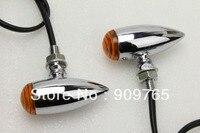 Chrome Amber Turn Signal Light For Kawasaki Vulcan VN 650 750 1000 1700 Yamaha Raider Road