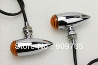 Chrome Amber Turn Signal Light For Kawasaki Vulcan VN 650 750 1000 1700 Yamaha Raider Road