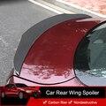 QHCP 1Pcs Auto Hinten Heckspoiler Flügel Lip Real Carbon Fiber Außen Dekoration Zubehör Für Alfa Romeo Giulia Auto styling
