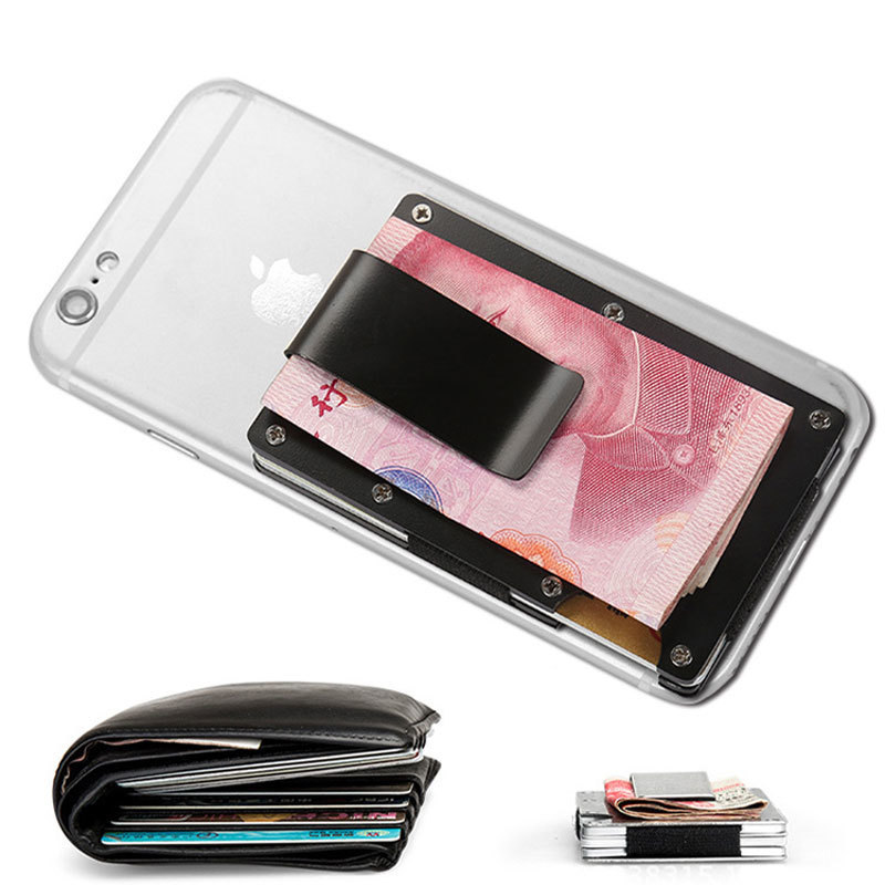 Mini Money Clamp Fashion RFID Anti-chief Credit Business Card Holder ...