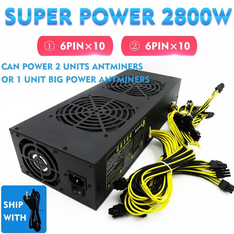 Aufstrebend 2800 Watt Btc Netzteil Netzteil Für Antminer S9/s7 Antminerl3/l3 + Pinidea Miner A4 Dominator Miner Max 2800 Watt ZuverläSsige Leistung