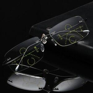 Image 1 - Titan Không Gọng Tiến Bộ Multifocal Multifocus Đa Tập Trung Kính Đọc Sách Chuyển Tiếp Nam Kính Mắt Hyperopia Lão Thị Xã Reade
