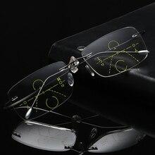 Titan Randlose Progressive Multifokale Multifocus Multi fokus Lesebrille Übergang Männer Brillen Hyperopie Presbyopie Reade