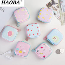 HAOBA 1PCS Earphone Bag Case Storage Carrying Hard Box Headphone Stand For Headset Earbuds Memory Card Money Key Box Organizer(China)