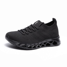 Spring and summer large size couples blade mesh sports shoes students breathable flying woven comfortable running men's shoes цена 2017