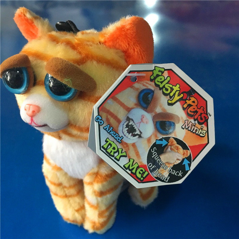 11-12cm mini feisty pets change face geek novelty toys prank tricks gags chain funny antistress toy
