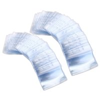 5 pcs of Disposable Dispenser 100pcs Waterproof Plastic Horizontal Name Tag Insignia coin ID card holder