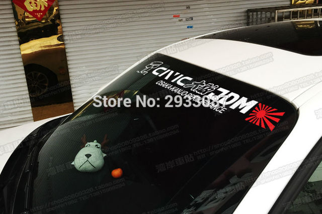 Pegatina de 3 tamaños para coche JDM parabrisas delantero coche calcomanías de cuerpo entero para Japón