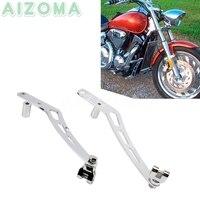 Motorcycle Cruise Highway Foot Peg Mount Bracket w/ Adaptors Kit For Honda VTX 1300 Retro VTX1300S VTX1300T VTX1300C 2003 2009