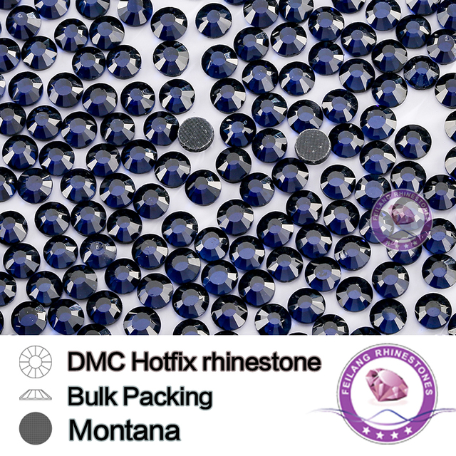 Montana SS6 SS10 SS16 SS20 SS30 Bulking Packing HotFix Rhinestone For Garments Bags And Shoes