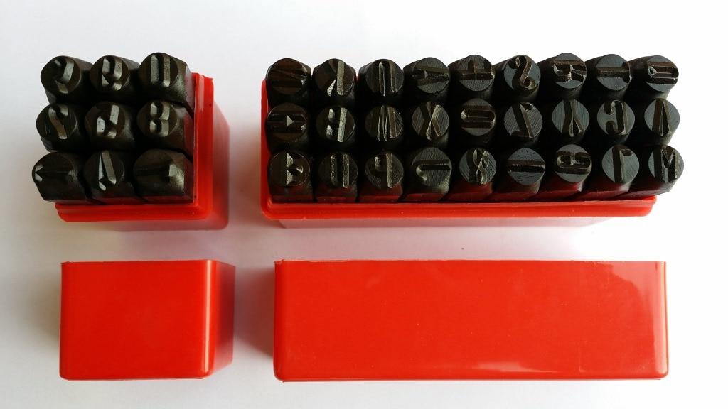 36pcs Steel Stamp Punch Alphabet and Number  Alphanumeric Leather Carve Letters Impact Leather LOGO kitlee40100quar4210 value kit survivor tyvek expansion mailer quar4210 and lee ultimate stamp dispenser lee40100