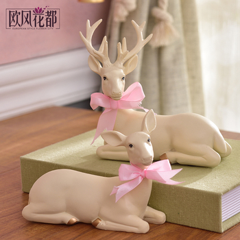 to send friends new high-grade utility bestie wedding decorations gifts Home Furnishing deer living room decoration