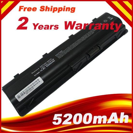 MU06 5200 mAh batterie pour HP Pavilion g6 DM4 DM4T DV3 DV5 DV6 DV6T DV7 G4 G6 G7 G62 G62T G72 MU06 HSTNN-UBOW CQ42 CQ56 CQ62