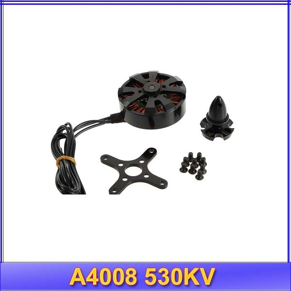 Free shipping  2014 New A4008 530KV Brushless Disk Motor high Thrust 24N/22P For Hexa Quad Multi Copter UFO