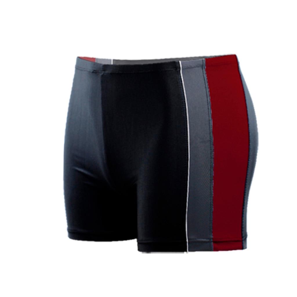 CHAMSGEND Swim-Trunks Seamless Short Men Brief Quick-Dry Breathable Beach-Stripe Men's