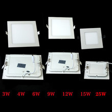 Ultra thin design 25W LED ceiling recessed grid downlight / square panel light 225mm, free shipping