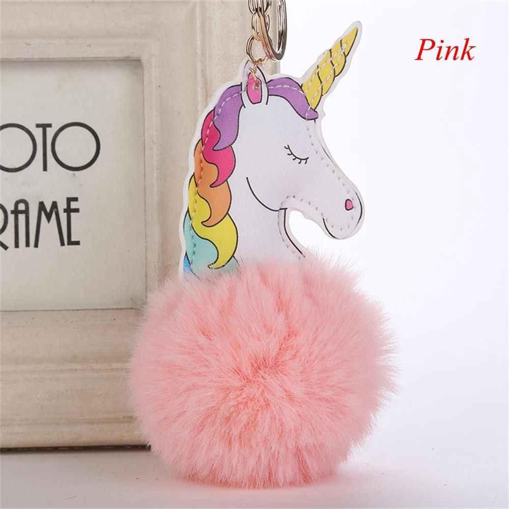 1 pc Bonito Dos Desenhos Animados do Unicórnio Colorido Chaveiro Bag Pingente Chaveiro Carro Saco de Jóias Pingente de Moda Jóias para As Mulheres
