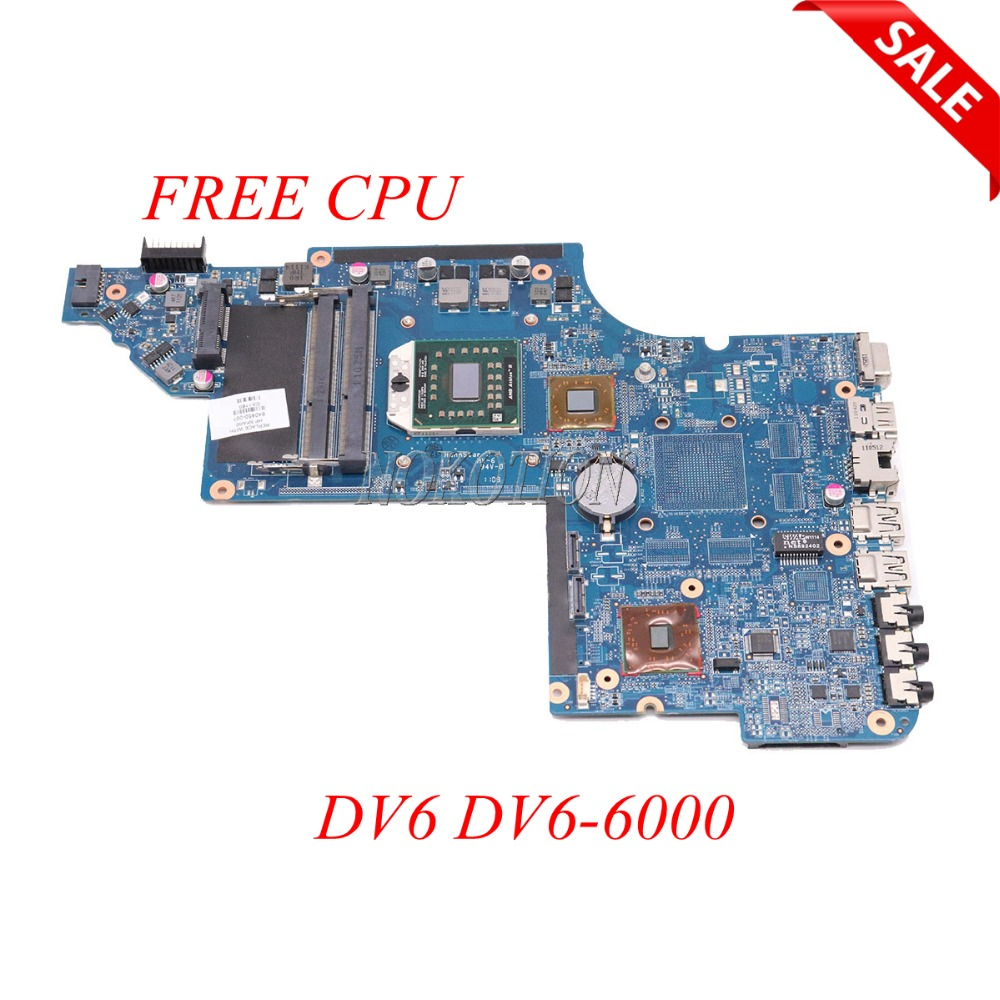 NOKOTION 640450-001 Laptop Motherboard For HP Pavilion DV6 DV6-6000 Main Board Socket S1 DDR3 FREE CPU Full tested nokotion 578377 001 for hp pavilion dv6 dv6 1000 laptop motherboard pm45 ddr3 free cpu dsicrete graphics