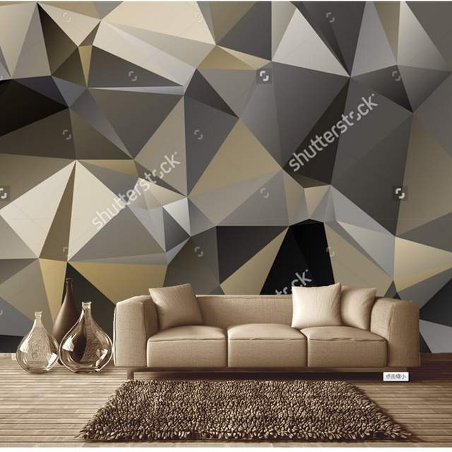 Buy modern wallpaper mosaic triangle 3d for A t design decoration co ltd