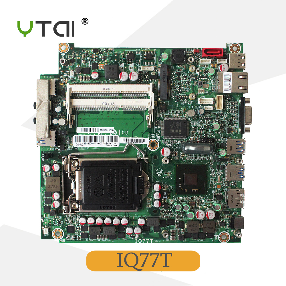 все цены на YTAI for Lenovo ThinkCentre M92 IQ77T motherboard 03T7351 LGA1155 DDR3 mainboard онлайн