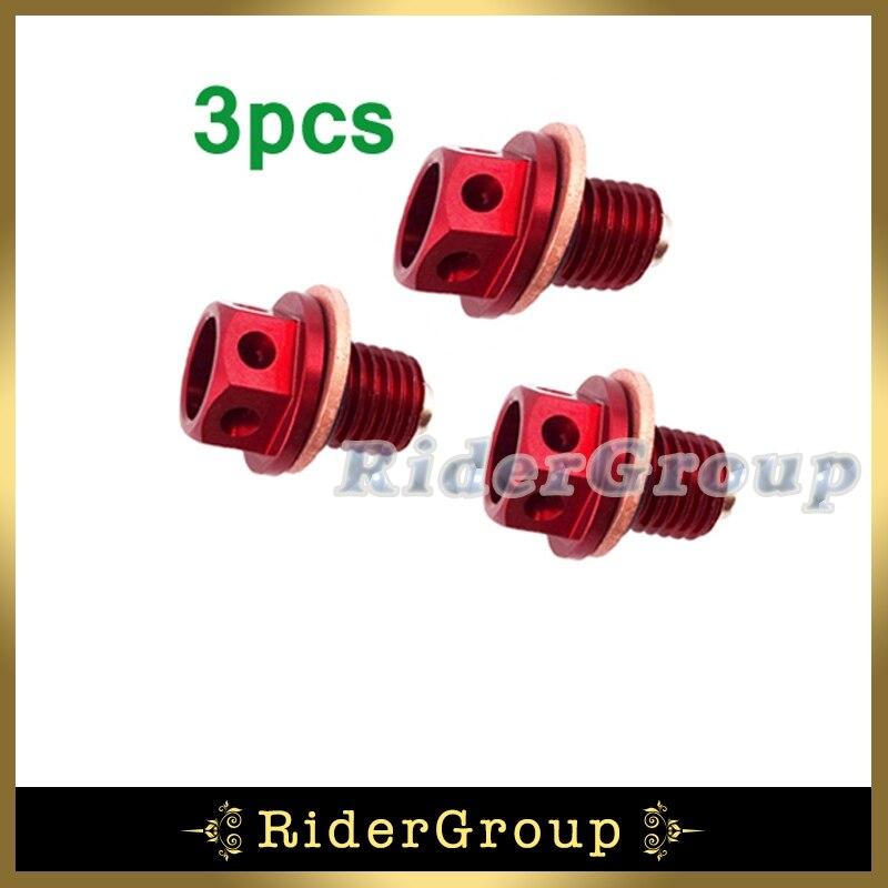 3pcs Oil Magnetic Drain Bolt Plug For 50cc 90 110cc 125cc 140cc ...
