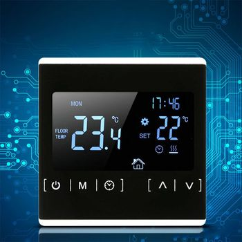 LCD Touch Screen Thermostat Electric Floor Heating System Water Heating Thermoregulator AC85-240V Temperature Controller lcd touch screen smart wifi big digital temperature thermostat touch screen warm floor heat controller thermostat