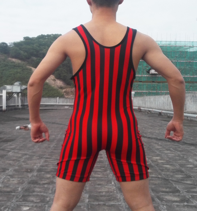 American Gladiator Tank No 4 Man Wrestling singlet Powerlifting  Tight Outfit