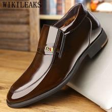 Г., итальянские Роскошные брендовые зимние ботинки мужская зимняя обувь мужские кожаные ботильоны мужская обувь на деревянной подошве botas hombre bota masculina