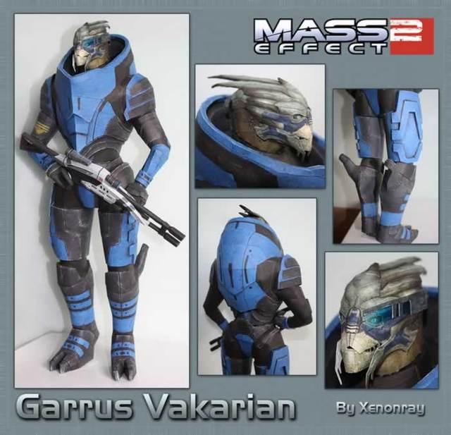 Mass Effect 2 Garrus Gauss Terceira Pessoa Tiro Batalha Modelo de Papel 3D