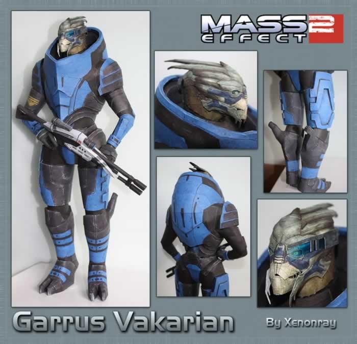 Mass Effect 2 Garrus Gauss Third Person Shooting Battle 3D Paper Model